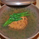 菊乃井 - 鱧のヒロウスの山椒あん、三度豆