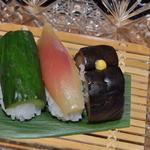 菊乃井 - 漬け物の寿司