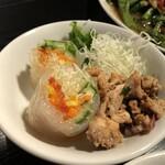 タイ屋台 チャオ チェンマイ - ランチセットのサラダ
