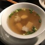 タイ屋台 チャオ チェンマイ - ランチセットのスープ