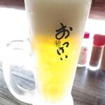 おっけい - ドリンク写真:生ビールは神泡のザ・プレミアムモルツ450円(税抜き:以下同)