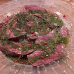 クラフトビアバル IBREW - 牛ハツのカルパッチョ