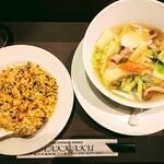 ハッカク - 五目汁そば+炒飯
