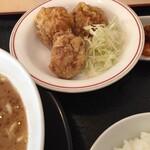 麺家 口熊野食堂 - 唐揚げは、普通