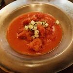 irutoramu - トマトのスープ ダイコ バジルのせ