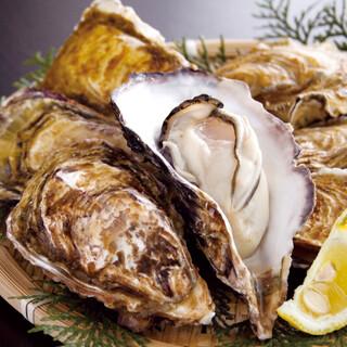 市場直送の鮮魚はもちろん、当店イチオシの牡蠣も是非!!