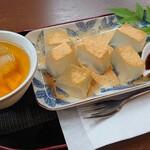 文晃堂 - 料理写真:吉野本葛わらび餅:お茶セット♪