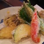 蕎家 佳 - 野菜天ぷら盛り合わせ
