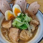 めんや 正明 - 鰤チャーシュー麺   醤油   ¥1180    味玉   ¥150