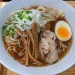 めんや 正明 - 海老ワンタン麺   鶏そば  醤油   ¥1080