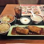 遙華 - 黒酢の酢豚スペシャルランチ(1100円)