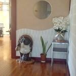 竹林 - 玄関を入るとスリッパに履き替えて