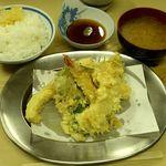 いもや 本店 - いもや @神保町 天ぷら定食 650円