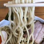 煮干そば とみ田 - 極太麺