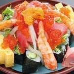 蓮 - 料理写真:ボリューム満点!のっけ寿司    (2~3人前)1,980円