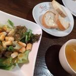 イルキャンティ京都 - ランチのパン・サラダ・スープ