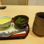 華花 - 抹茶わらび餅と南瓜の冷製フォンデュ