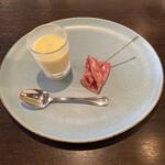 アターボラスリス - 料理写真:冷製コーンスープ、サラミ/フィノッキ