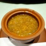 新世界菜館 - フカヒレと蟹の玉子のスープ