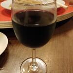 華龍閣 - グラスワイン赤 500円