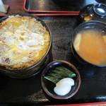 瀧乃家 - 主人の かつ丼(上) 1000円