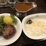 ステーキ&ワイン 神房 - 黒毛和牛100%ハンバーグカレー@2,000円