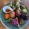 Saji - 料理写真:本日のランチ、10種の野菜料理と豆腐長芋コロッケ