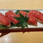 135819410 - 和牛炙り寿司 1280円