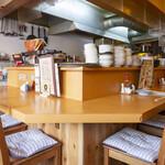 鶏バル - 目の前で調理が見れる迫力あるカウンター 8席