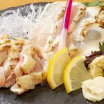鶏バル - 朝引き鶏のお刺身もり合わせ
