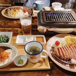 yakinikubarumaruushimi-to - 焼いて食べる〜ウシカツランチセット〜 1370円