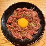 炭火焼 ホンマ - 和牛生ユッケ