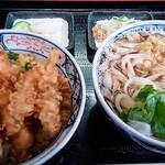 ふなと - 料理写真:ミックス天丼+小うどん