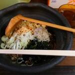 もつ焼串 山形肉問屋センター - とろろこんぶ蕎麦(冷)