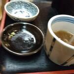 新潟古町 藪そば - 蕎麦湯