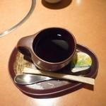 かに道楽 - 食後のホットコーヒー