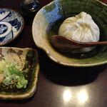 135854108 - そばがき。福井県丸岡産の白いそばがき。