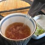 酒・蕎麦 田治 - そば湯