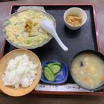 135857340 - ほたて貝焼き味噌定食 ¥1,100                       味噌汁→けのじる変更 ¥250
