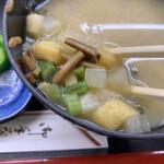 135857360 - ほたて貝焼き味噌定食 ¥1,100                         味噌汁→けのじる変更 ¥250