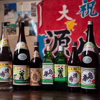 現地の酒造が丁寧に造った、八丈島ならではの島酒をご提供