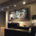 スターバックスコーヒー - ソラマチ店ならではの和風アート
