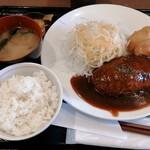 オリーブ・キッチン  - ハンバーグ大きい!