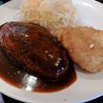 オリーブ・キッチン  - ハンバーグ&クリームコロッケ定食