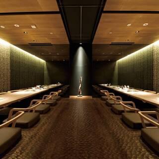 【小上がり半個室】プライベートも宴会にも重宝できる大人の空間