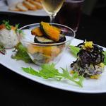 シンパ カフェ - お野菜の紹介を聞きながら頂く,ディナーコースの一皿。