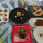 杉幸園 - 料理写真:9月のおまかせコースです。税込3500円です。ご予約お待ちしております。