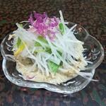 銀波鮨 - サラダ