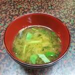 銀波鮨 - 汁物