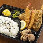 雑魚や 基 - アジフライ弁当